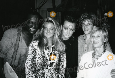 Boy George Photo - Boy George with Ron Richardson Cornelia Guest Daniel Jenkins and Cloris Leachman attending a Broadway performance of Big River on June 10 1985 at Eugene ONeill Theatre in New York City Credit McBrideface to face