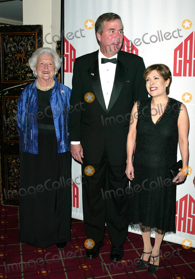 Jeb Bush Photo - Barbara Bush with son Governor Jeb Bush and his wife Columbia Bush attend CASAS Eleventh Anniversary Awards Dinner Honors American Leadership in Combating Substance Abuse Waldorf Astoria Hotel NYCApril 2 2003Credit McBrideface to face