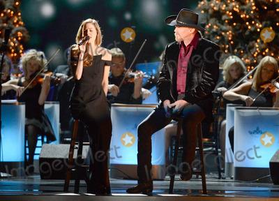 Trace Adkins Photo - 08 November 2013 - Nashville Tennessee - Lily Costner Trace Adkins 2013 CMA Country Christmas Taping held at Bridgestone Arena Photo Credit Laura FarrAdMedia