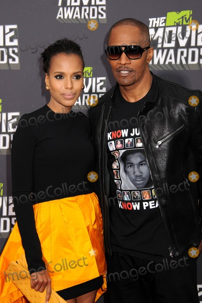Jamie Foxx Photo - 14 April 2013 - Culver City California - Kerry Washington Jamie Foxx 2013 MTV Movie Awards - Arrivals held at Sony Pictures Studios Photo Credit Byron PurvisAdMedia
