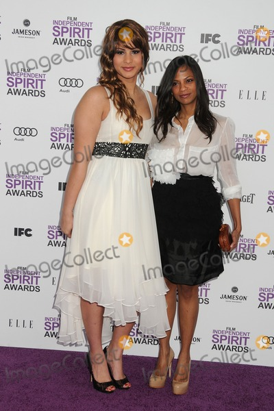 Harmony Santana Photo - 25 February 2012 - Santa Monica California - Harmony Santana Cisely Saldana 2012 Film Independent Spirit Awards - Arrivals held at Santa Monica Beach Photo Credit Byron PurvisAdMedia