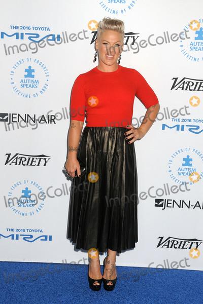 Alecia Moore Photo - 8 October 2015 - Santa Monica California - Pink Alecia Moore Autism Speaks To Los Angeles Celebrity Chef Gala held at Barker Hangar Photo Credit Byron PurvisAdMedia