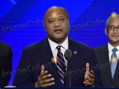 Andre Carson Photo - United States Representative Andre Carson (Democrat of Indiana) makes remarks during the third session of the 2016 Democratic National Convention at the Wells Fargo Center in Philadelphia Pennsylvania on Wednesday July 27 2016 Photo Credit Ron SachsCNPAdMedia