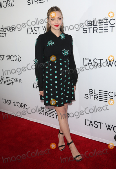 Amanda Seyfried Photo - 01 March 2017 - Hollywood California - Amanda Seyfried The Last Word Los Angeles Premiere held at ArcLight Hollywood Photo Credit AdMedia