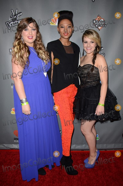 Amber Carrington Photo - 08 May 2013 - West Hollywood California - Sarah Simmons Judith Hill Amber Carrington NBCs The Voice Season 4 premiere at House of Blues Sunset Strip Photo Credit Tonya WiseAdMedia
