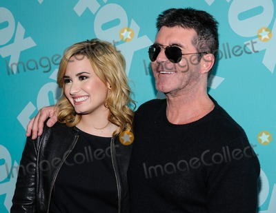 Simon Cowell Photo - 13 May 2013 - New York New York- Demi Lovato Simon Cowell FOX 2013 Upfront at Wollman Rink in Central Park Photo Credit Mario SantoroAdMedia