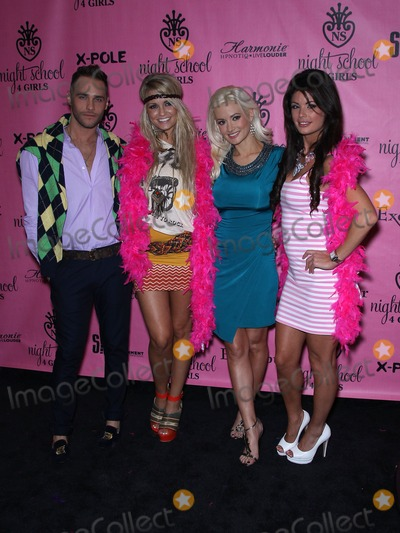 Angel Porrino Photo - 07 October 2011 - Las Vegas Nevada - Josh Strickland Angel Porrino Holly Madison Laura Croft   Laura Crofts Night School 4 Girls celebrates its Grand Opening at The Excalibur Hotel and Casino  Photo Credit MJTAdMedia