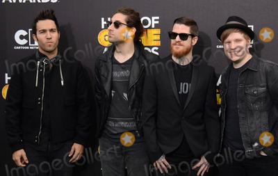 Andy Hurley Photo - 15 February 2014 - Santa Monica California - Pete Wentz Joe Trohman Andy Hurley Patrick Sump 2014 Cartoon Networks Fourth Annual Hall of Game Awards held at the Barker Hangar Photo Credit AdMedia