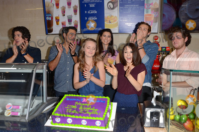 Anna Jacoby-Heron Photo - 12 August 2014 - Burbank California - Jesse Henderson Eddie Matos Anna Jacoby-Heron Milena Govich Kathryn Prescott Caleb Ruminer Jesse Carere Cast of MTVs Finding Carter celebrate the twins 17th birthday at Baskin-Robbins in Burbank Ca Photo Credit Birdie ThompsonAdMedia