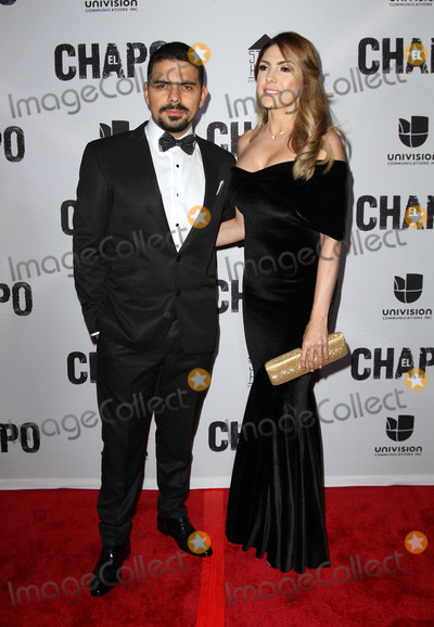 Alejandro Aguilar Photo - 19 April 2017 - Los Angeles California - Alejandro Aguilar and partner Ana Soto Univisions El Chapo Original Series Premiere Event held at The Landmark Theatre Photo Credit AdMedia