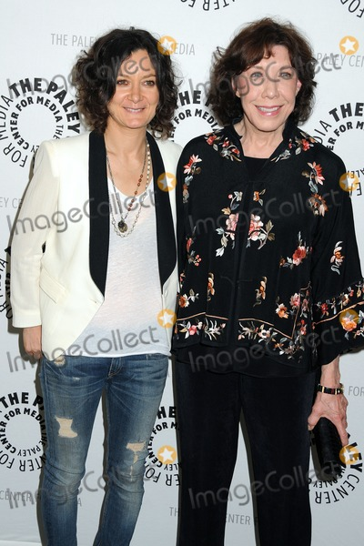 Sara Gilbert Photo - 16 July 2013 - Beverly Hills California - Sara Gilbert Lily Tomlin The Paley Center for Media Presents An Evening With Web Therapy held at The Paley Center Photo Credit Byron PurvisAdMedia