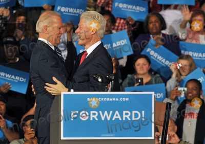 Bill Clinton Photo - 29 October 2012 - Youngstown OH - Vice President JOE BIDEN and former President BILL CLINTON speak at a campaign stop held at the Covelli Centre where Ohio residents gear up to vote in a crucial swing state Photo Credit Jason L NelsonAdMedia