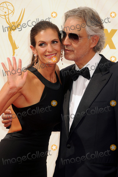 Andrea Bocelli Photo - 20 September 2015 - Los Angeles California - Veronica Berti Andrea Bocelli 67th Annual Primetime Emmy Awards - Arrivals held at Microsoft Theater Photo Credit Byron PurvisAdMedia