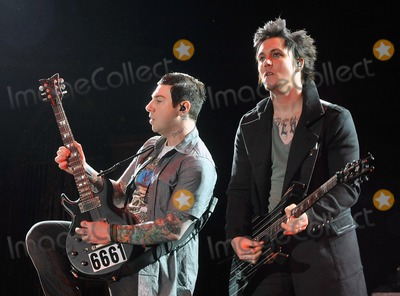Zacky Vengeance Photo - 21 May 2011 - Columbus Ohio - Guitarists ZACKY VENGEANCE and SYNYSTER GATES of the band AVENGED SEVENFOLD performs as part of the Rock On The Range festival held at Columbus Crew Stadium Photo Credit Jason L NelsonAdMedia