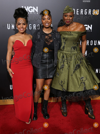 Aisha Hinds Photo - 28 February 2017 - Westwood California - Amirah Vann Misha Green Aisha Hinds WGN Americas Underground Season 2 Premiereheld at Westwood Village Photo Credit AdMedia
