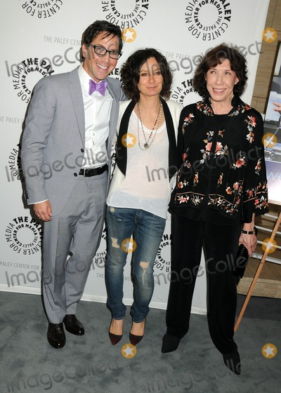 Sara Gilbert Photo - 16 July 2013 - Beverly Hills California - Dan Bucatinsky Sara Gilbert Lily Tomlin The Paley Center for Media Presents An Evening With Web Therapy held at The Paley Center Photo Credit Byron PurvisAdMedia