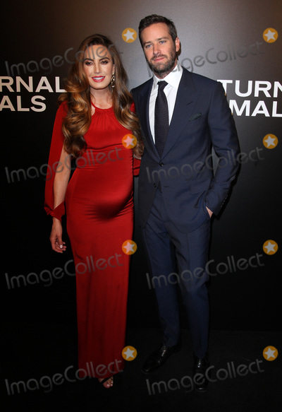 Armie Hammer Photo - 11 November 2016 - Los Angeles California - Armie Hammer with wife Elizabeth Chambers Nocturnal Animals Los Angeles Screening held at the Hammer Museum Photo Credit AdMedia