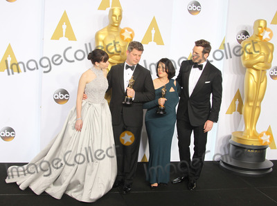 Adam Stockhausen Photo - 22 February 2015 - Hollywood California - Felicity Jones Adam Stockhausen Anna Pinnock Chris Pratt 87th Annual Academy Awards presented by the Academy of Motion Picture Arts and Sciences held at the Dolby Theatre Photo Credit F SadouAdMedia