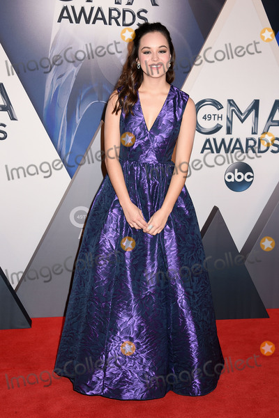 Hayley Orrantia Photo - 4 November 2015 - Nashville Tennessee - Hayley Orrantia 49th CMA Awards Country Musics Biggest Night held at Bridgestone Arena Photo Credit Laura FarrAdMedia