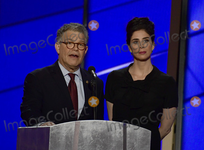 Al Franken Photo - United States Senator Al Franken (Democrat of Minnesota) and Sarah Silverman make remarks at the 2016 Democratic National Convention at the Wells Fargo Center in Philadelphia Pennsylvania on Monday July 25 2016 Photo Credit Ron SachsCNPAdMedia