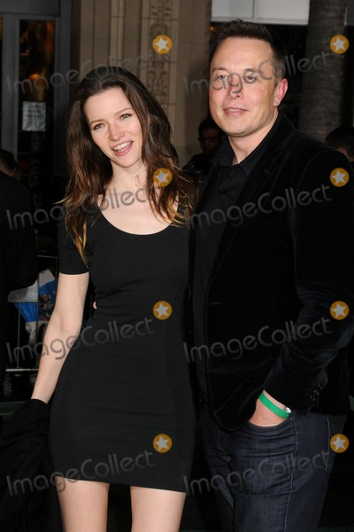 ELON MUSK Photo - 13 February 2013 - Hollywood California - Talulah Riley Elon Musk Oz the Great and Powerful Los Angeles Premiere held at the El Capitan Theatre Photo Credit Byron PurvisAdMedia