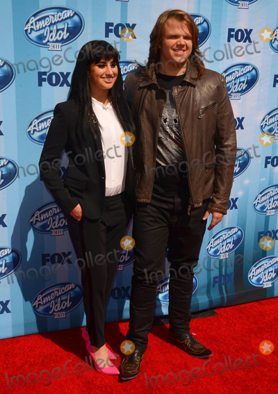 Caleb Johnson Photo - 21 May 2014 - Los Angeles California - Jena Irene Caleb Johnson Arrivals for the American Idol Season 13 finale held at the Nokia Theater in Los Angeles Ca Photo Credit Birdie ThompsonAdMedia