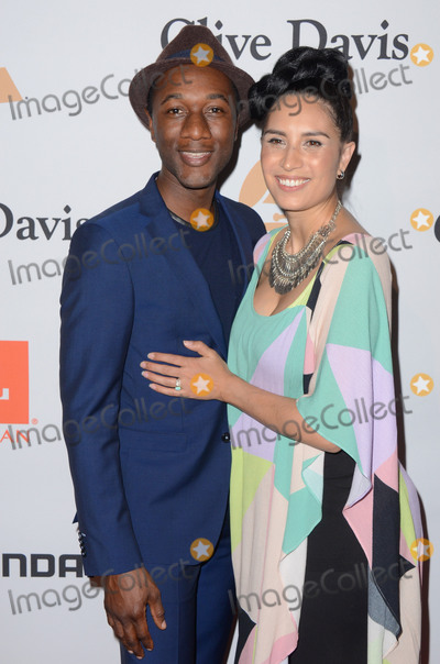 Aloe Blacc Photo - 14 February  - Beverly Hills Ca - Aloe Blacc Maya Jupiter Arrivals for the 2016 Pre-GRAMMY Gala And Salute to Industry Icons Honoring Irving Azoff held at The Beverly Hilton Hotel Photo Credit Birdie ThompsonAdMedia