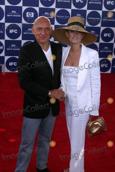 Alexandra Christmann Photo - Sir Ben Kingsley and Lady Alexandra Christmann at the 2004 IFP Independent Spirit Awards - Arrivals at Santa Monica Beach Santa Monica CA 02-28-04