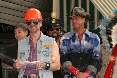 Village People Photo - David Hodo with Ray Simpson and Jeff Olson at the Hollywood Walk of Fame Ceremony Honoring the Band The Village People  Hollywood Boulevard Hollywood CA 09-12-08