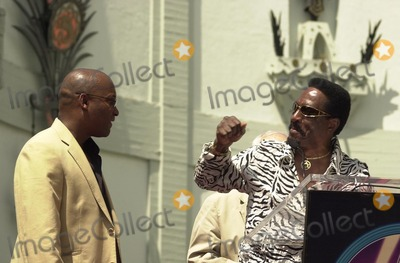 Ike Turner Photo - John Singleton and Ike Turner at Singletons induction into the Hollywood Walk of Fame Hollywood CA 08-26-03