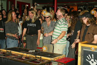 Iron Maiden Photo - Derek Riggs and Iron Maiden at the ceremony honoring Iron Maiden with induction in to the Hollywood Rockwalk Rockwalk HollywoodCA 08-19-05