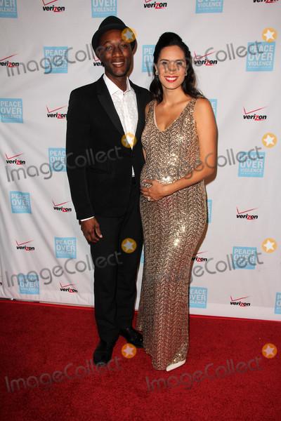 Aloe Blacc Photo - Aloe Blacc Maya Jupiterat the 44th Annual Peace Over Violence Humanitarian Awards Dorothy Chandler Pavilion Los Angeles CA 10-16-15