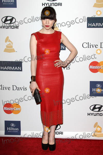 Clive Davis Photo - LOS ANGELES - FEB 9  Carly Rae Jepsen arrives at the Clive Davis 2013 Pre-GRAMMY Gala at the Beverly Hilton Hotel on February 9 2013 in Beverly Hills CA