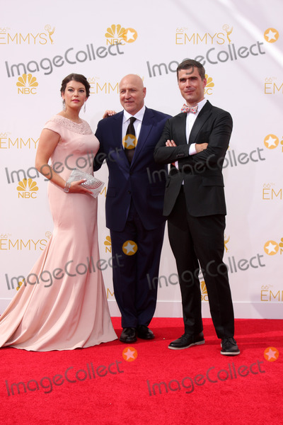 Tom Colicchio Photo - LOS ANGELES - AUG 25  Gail Simmons Tom Colicchio Hugh Acheson at the 2014 Primetime Emmy Awards - Arrivals at Nokia at LA Live on August 25 2014 in Los Angeles CA