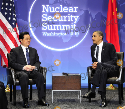 Hu Jintao Photo - United States President Barack Obama holds bilateral meeting with President Hu Jintao of China on the sidelines of the Nuclear Security Summit at the Washington Convention Center Monday April 12 2010 in Washington DCPhoto by Ron SachsPool-CNP-PHOTOlinknet