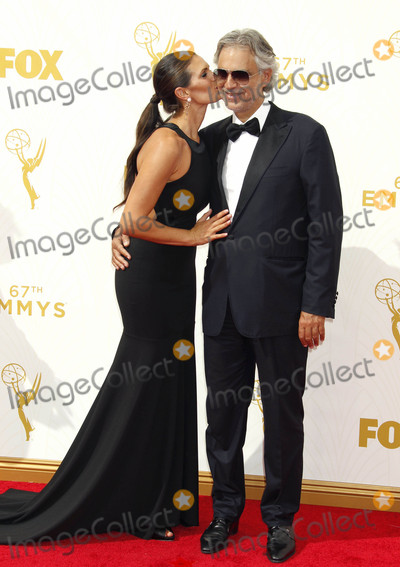 Andrea Bocelli Photo - Photo by REWestcomstarmaxinccomSTAR MAX2015ALL RIGHTS RESERVEDTelephoneFax (212) 995-119692015Andrea Bocelli and Veronica Bocelli at the 67th Primetime Emmy Awards(Los Angeles CA)