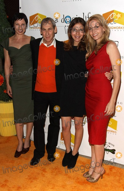 Allison Lange Photo - Andrew Rosenthal owner of LA Dogworks with Julia Pennington (L) and Allison Lange (far R) pose on the orange carpet during the second annual A Night of Emotion fundraiser benefiting A Dogs Life Rescue held at LA Dogworks a dog daycare boarding training and grooming shop Los Angeles CA 020311