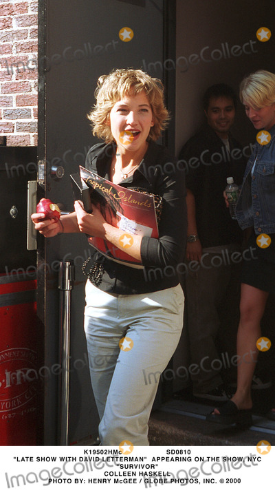 Colleen Haskell Photo - Sd0810 Late Show with David Letterman Appearing on the Show NYC Survivor Colleen Haskell Photo by Henry Mcgee  Globe Photos Inc