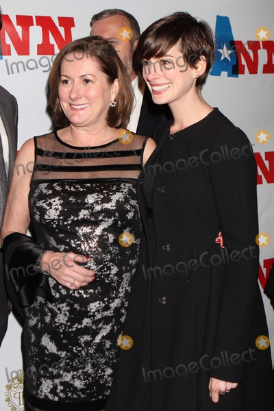 Ann Richards Photo - Anne Hathaway and Mother Kate Hathaway Arriving at the Opening Night Performance of Ann Starring Holland Taylor As Governor Ann Richards at Lincoln Centers Vivian Beaumont Theatre in New York City on 03-07-2013 Photo by Henry Mcgee-Globe Photos Inc 2013