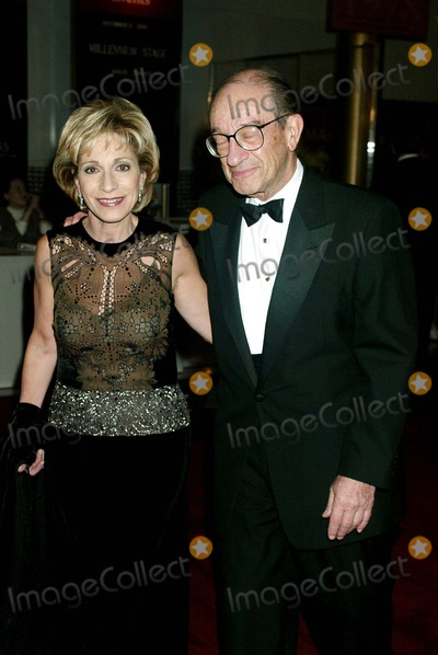 Andrea Mitchell Photo - Sd12082002 the Kennedy Center Honors 2002 at the Hall of States Kennedy Centerwashingtondc Andrea Mitchell_alan Greenspan Photo by Henry McgeeGlobe Photosinc