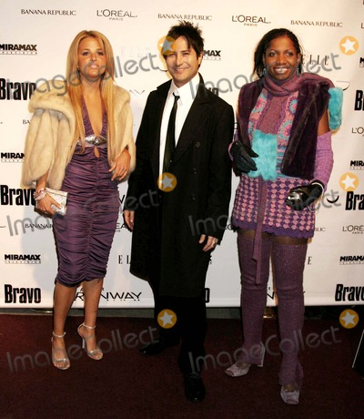 Alexandra Vidal Photo - Alexandra Vidal Daniel Franco and Kara Aka the Professional (Project Runway Contestants) Arriving at a Launch Party For Bravos Project Runway at Pm Lounge in New York City on 11-30-2004 Photo by Henry McgeeGlobe Photos Inc 2004