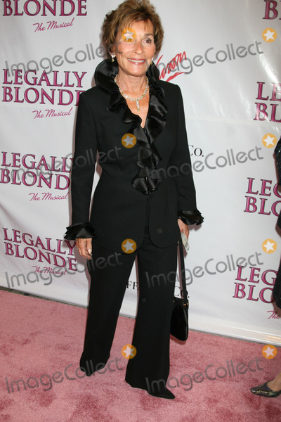 Judge Judy Sheindlin Photo - NYC  042907Judge Judy Sheindlin at opening night of LEGALLY BLONDE The Musical on Broadway at the Palace TheatreDigital Photo by Adam Nemser-PHOTOlinknet