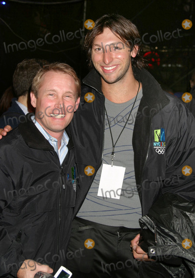 Ian Thorpe Photo - NYC  123104Olympians Bart Conner and Ian Thorpe in TIMES SQUARE on New Years Eve 2005Digital Photo by Adam Nemser-PHOTOlinkorg