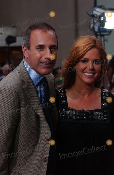 Natalie Morales Photo - Today Show anchors Matt Lauer and Natalie Morales appear on The Today Show at Rockefeller Plaza in New York City