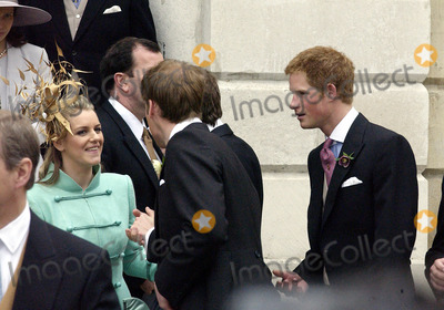 ANNABEL ELLIOT Photo - WINDSOR APRIL 9 2005    Laura Parker Bowles and Princes William and Harry arriving for Princes Charles wedding to Camilla Parker Bowles at Windsor Town Hall