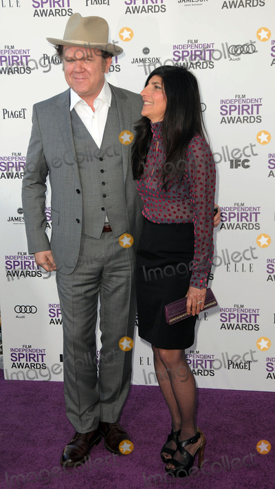 Alison Dickey Photo - Actor John C Reilly and wife Alison Dickey arriving at the 2012 Film Independent Spirit Awards at Santa Monica Pier on February 25 2012 in Santa Monica California