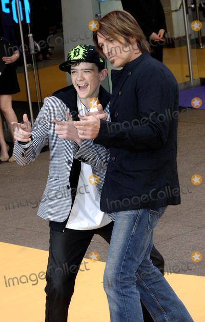 Hannah Montana Photo - George Sampson and Billy Ray Cyrus at the UK film premiere of Hannah Montana The Movie at the Odeon West End on April 23 2009  in London