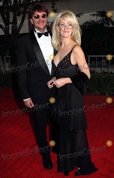 Heather Locklear Photo - 19JAN97  Actress HEATHER LOCKLEAR  husband RITCHIESAMBORA at the Golden Globe Awards      Please Credit Pix JEAN CUMMINGS