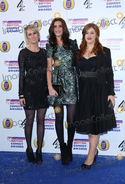 Jessica Knappett Photo - Lauren ORourke Jessica Knappett Lydia Rose Bewley arriving for The British Comedy Awards 2013 held at Fountain Studios London 12132012 Picture by Henry Harris  Featureflash