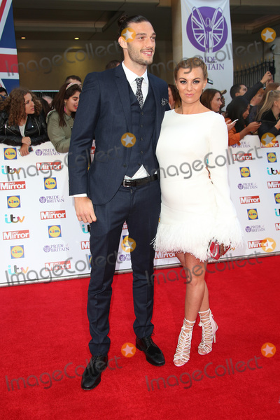 Billie Mucklow Photo - Billi Mucklow  Andy Carroll at the 2015 Pride of Britain Awards at the Grosvenor House HotelSeptember 28 2015  London UKPicture James Smith  Featureflash